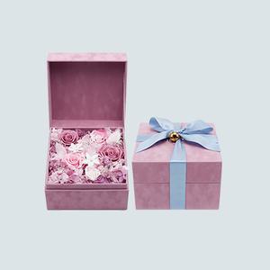 """""""抱抱你""""玫瑰金缸永生花盒"""